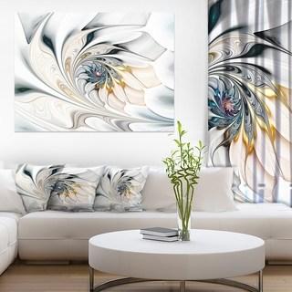 Living room wall art white stained glass flower art - large flower wall art canvas OLTLKSE