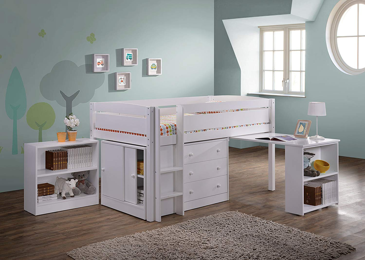 Loft Beds amazon.com: Canwood Whistler Junior Loft Bed, White: Kitchen & Dining Room WDZZHVF
