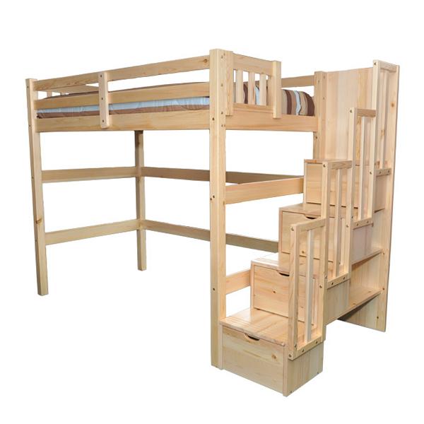 Loft beds encore Twin loft bed natural PYLLWIQ