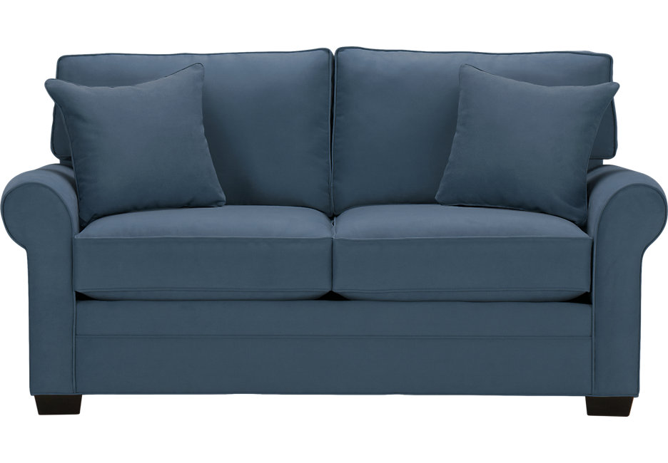 Loveseat Sofa Bed Cindy Crawford Home Bellingham Indigo Sleeper Loveseat - Sleeper Loveseats - PEXIOAC
