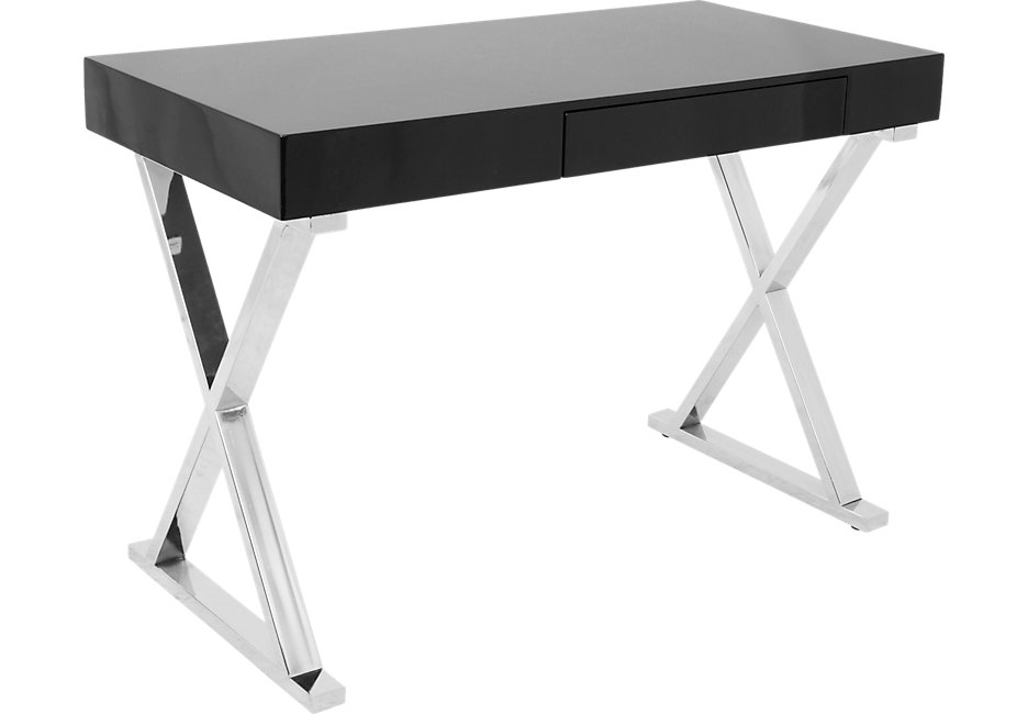 glossy black desk - desk colors PIOFJUI