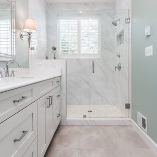 75 Beautiful Little Marble Tile Bathroom Pictures and Ideas - October ...