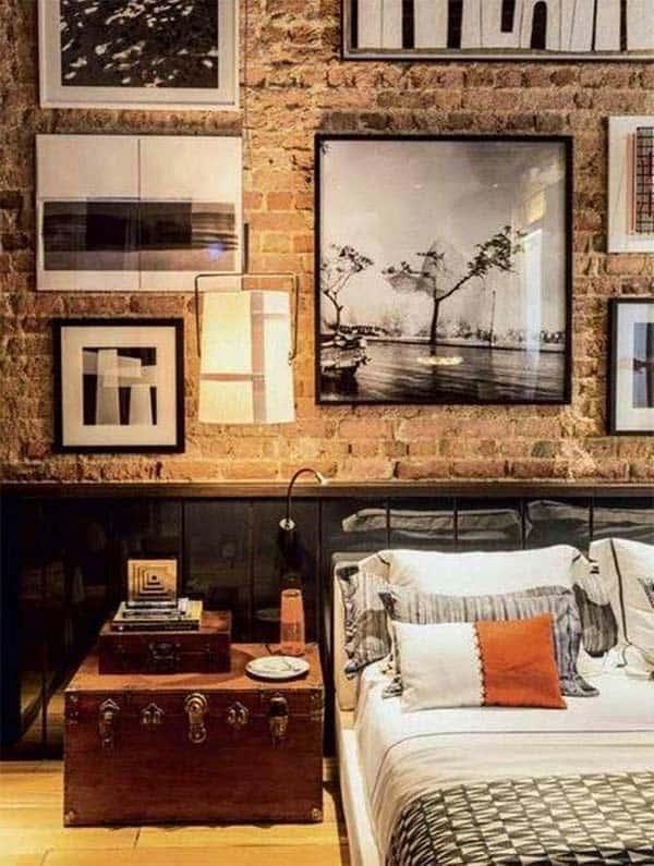 55 Sleek and sexy masculine bedroom design idea