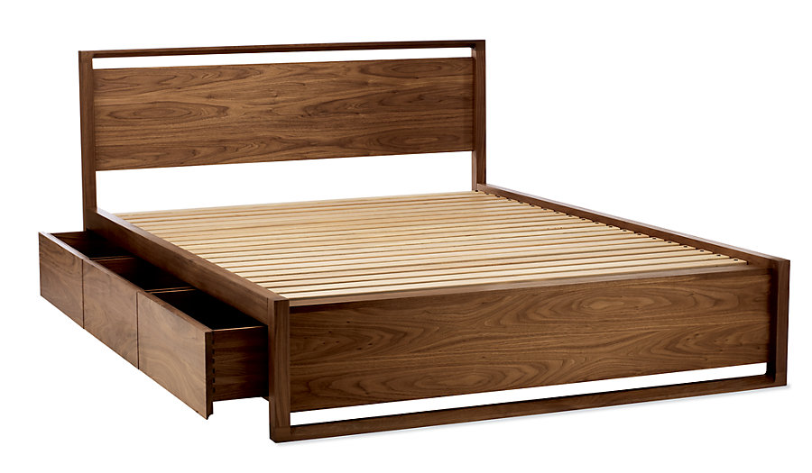 Matera Bed with Storage - Industrial Mid-Century Modern Beds - Dering Hall AFEEWNI