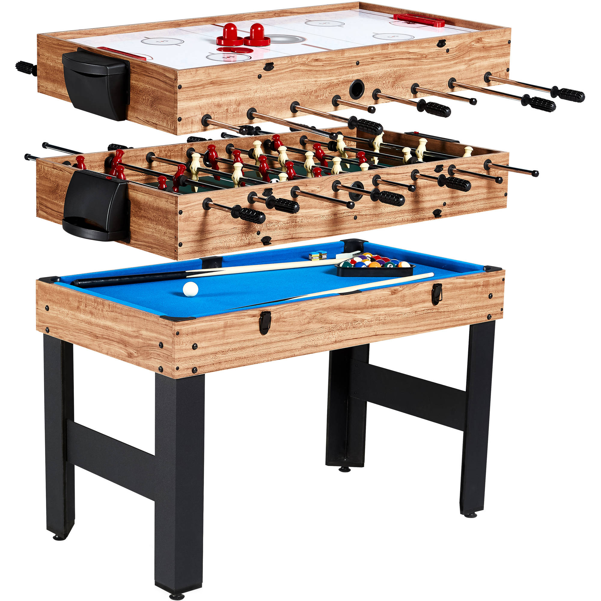 md sports 48 inch 3-in-1 combination game table, 3 games with YCYETMO