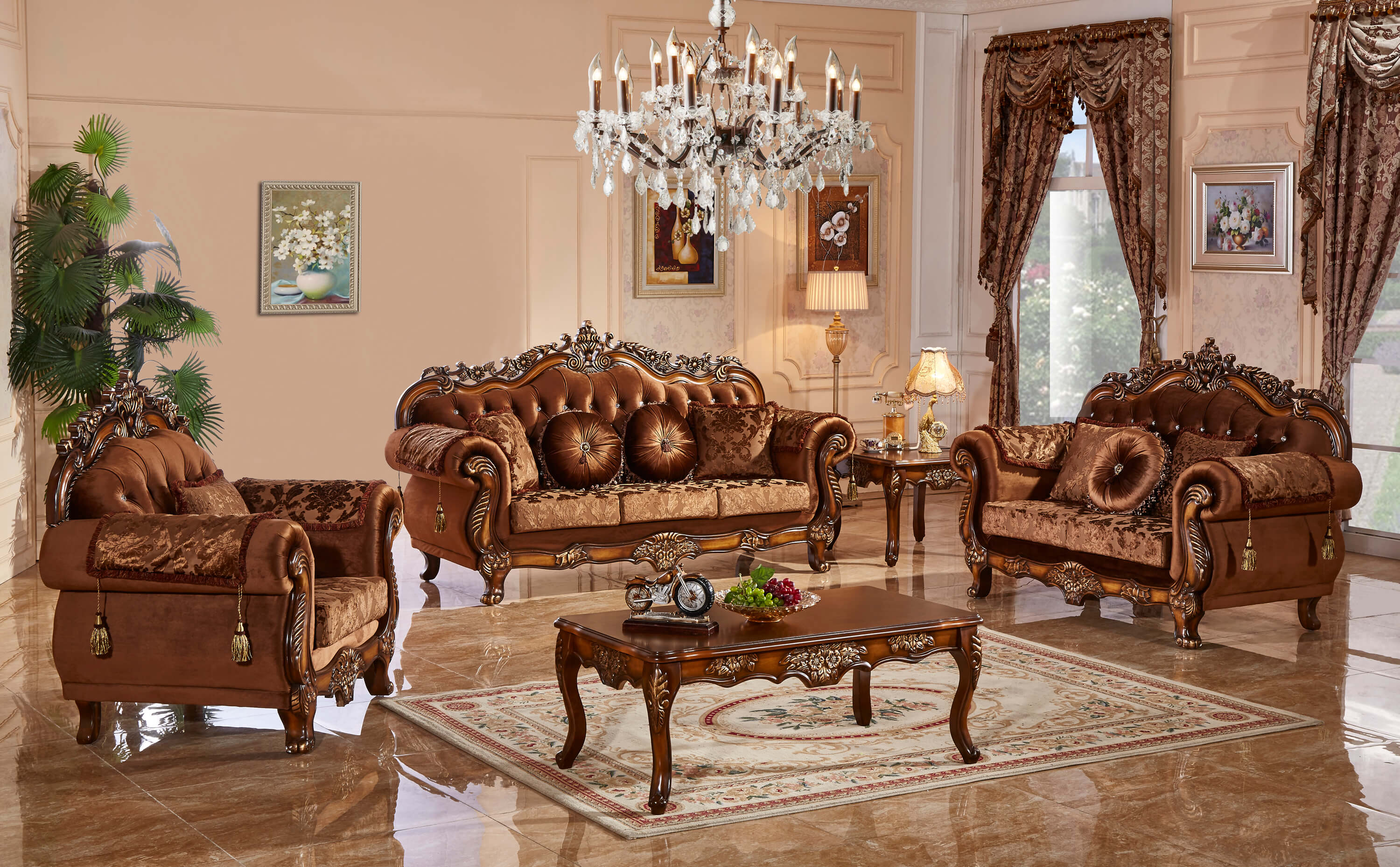 meridian furniture living room collection |  Living room sets in fabric TNNBXGX
