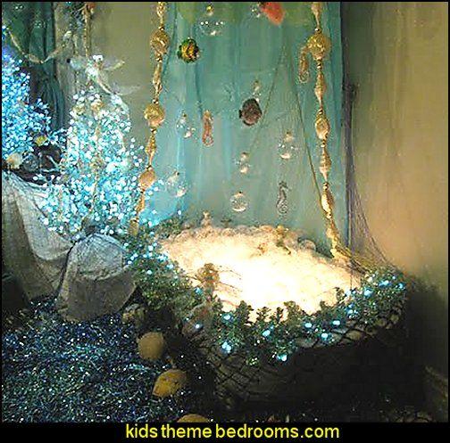 Underwater theme bathroom ocean mermaid bathroom decoration.