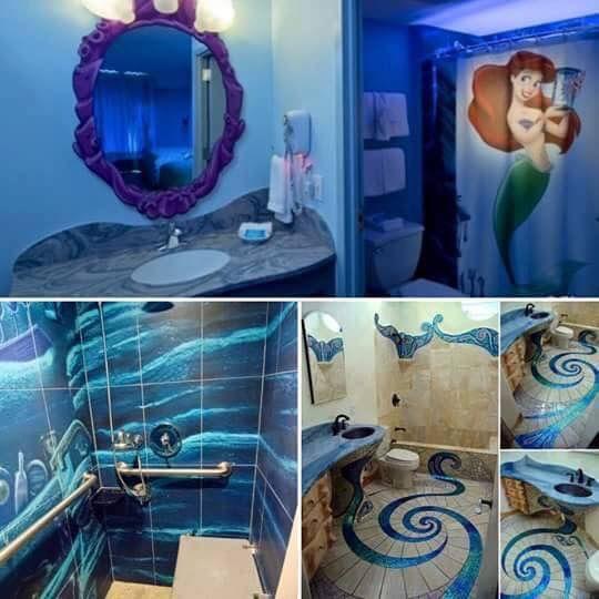 Little Mermaid Ariel Bathroom |  Girls baths, mermaid baths.
