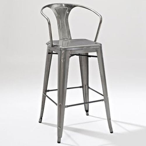 Metal bar stool with back 1 EUPLXPY