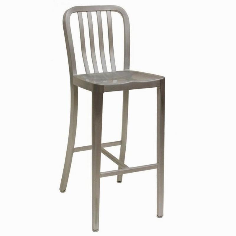 Metal bar stool with backrest 4 SVZGXCC