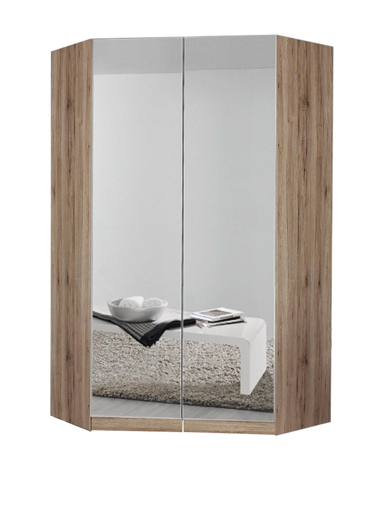 michelle corner wardrobe with mirrored doors - 210cm height EEBFNLR
