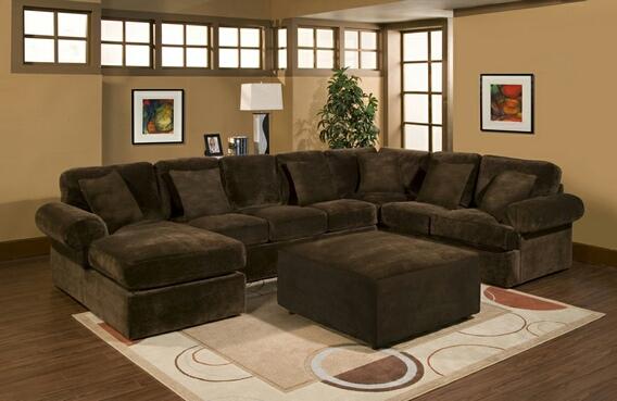 Partial microfiber sofa 31553 3-part Bradford part sofa with chocolate plush velor microfiber ZHVEPMX