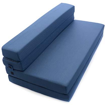 Billiard tri-fold foam folding mattress and sofa bed for guests - Queen ALMDTEG
