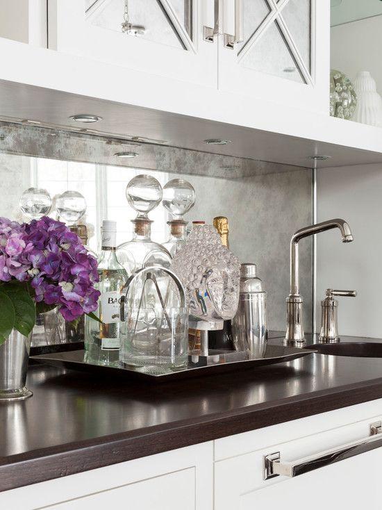 Mirrored Kitchen Backsplash Ideas