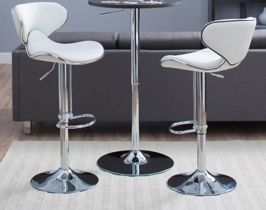 modern adjustable bar stool elegant bucket seat white modern stool GHLUAQF