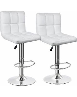 modern adjustable bar stool furmax white leather bar stool counter height modern adjustable synthetic leather HIYOPFJ