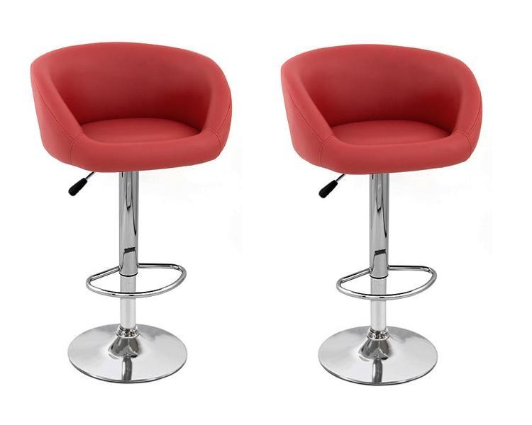 modern adjustable bar stool isu synthetic leather modern adjustable bar stool (set of 2) FBZVDTI