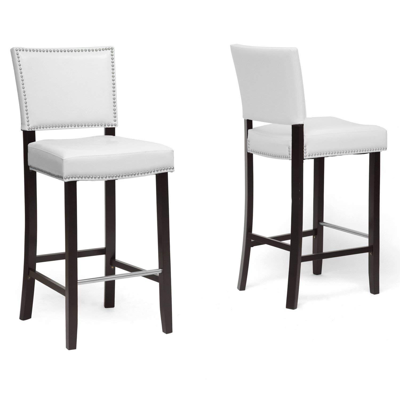 modern bar stool amazon.com: Baxton Studio Aries modern bar stool with nails, FZKBJDF
