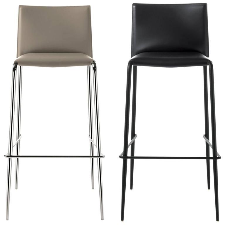 modern bar stool italian modern bar stool made of leather, made in italy, new 30 OZLVOGV