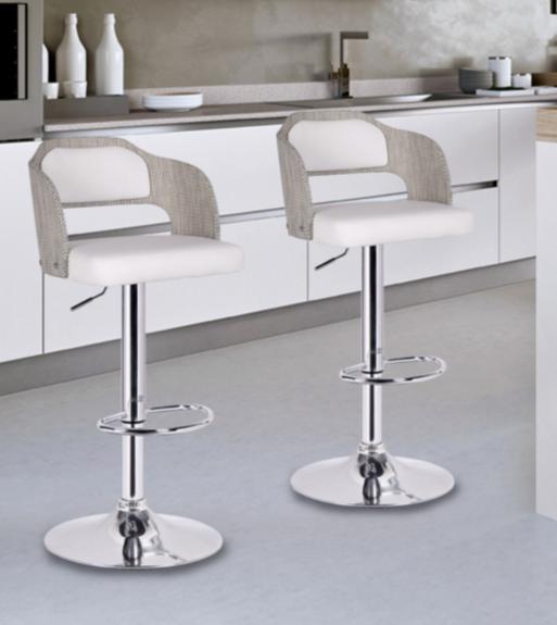 modern bar stool white adjustable bar stool XUADQFA