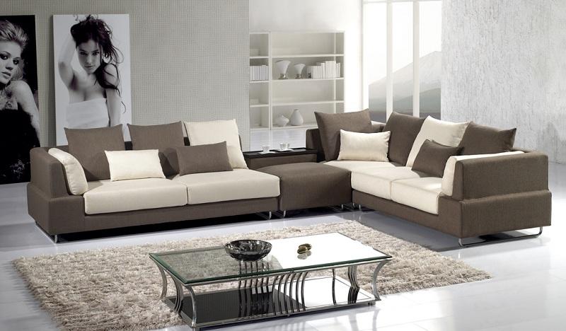 modern brown sofa made of microfiber OTOBSIR