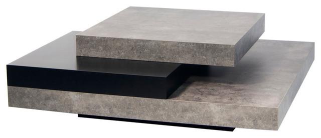 modern coffee tables slate coffee table, concrete look / pure black TKXZIGW