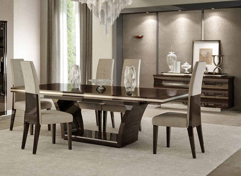 modern dining table sets giorgio italian modern dining table set in inspirations 0 HCTDZAX
