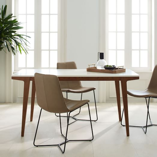 modern dining sets modern extendable dining table west elm with regard to place setting idea 1 CAQFETO