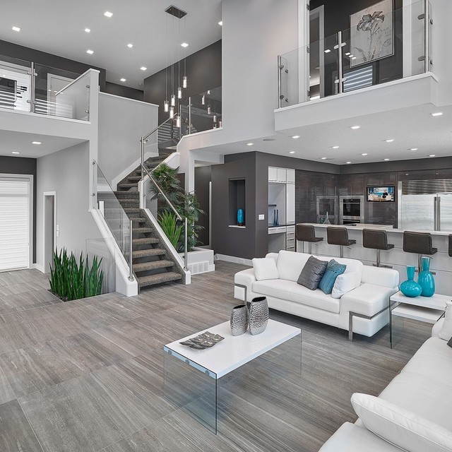 modern living room design ideas vickyu0027s houses - vittorio Contemporary-living-room QQELGOV