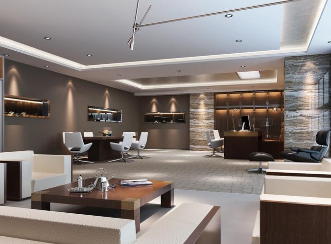 modern office room 3D model max 1 ZMSVVPH