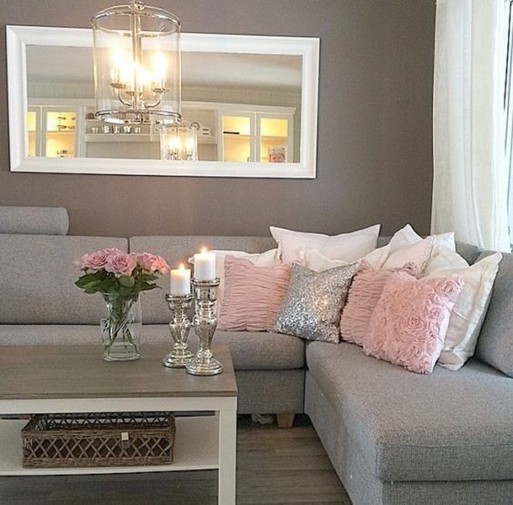 modern living room in pink and gray more ATVWCQB