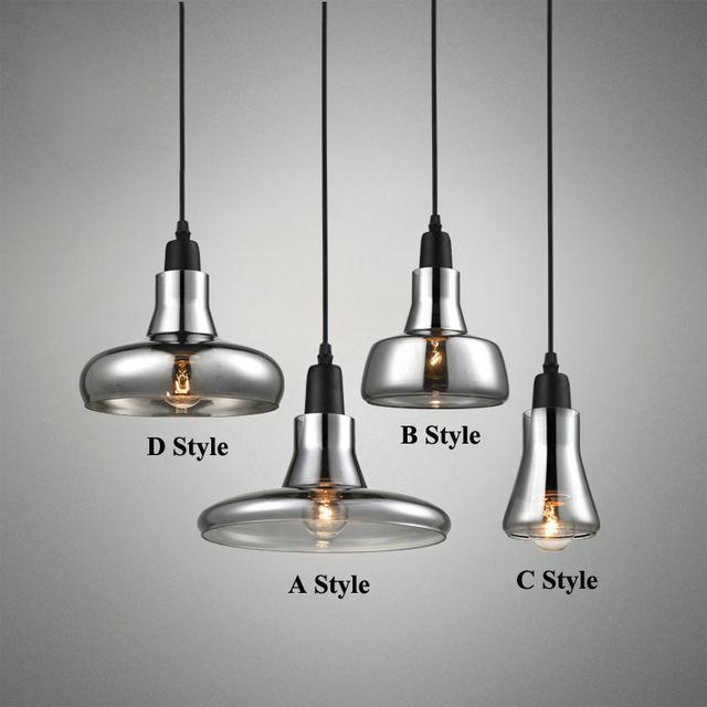 modern smoky gray glass pendant lights for restaurant Special Disc Design pendant light MIZSKWD