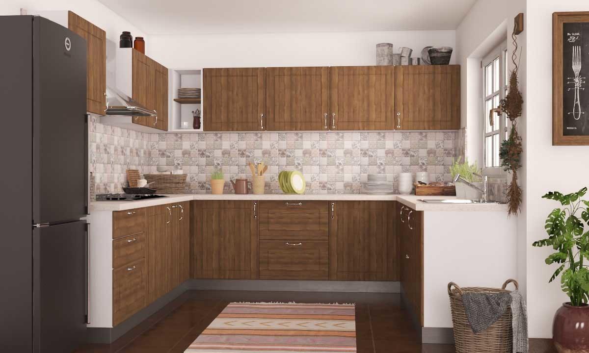 Modular kitchen design Gannet U-shaped kitchen DWLDIKE