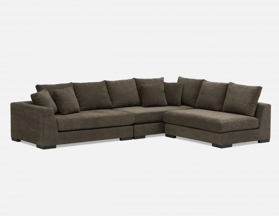 Cooper modular sofa - modular sectional sofa - gray PKBWFZF