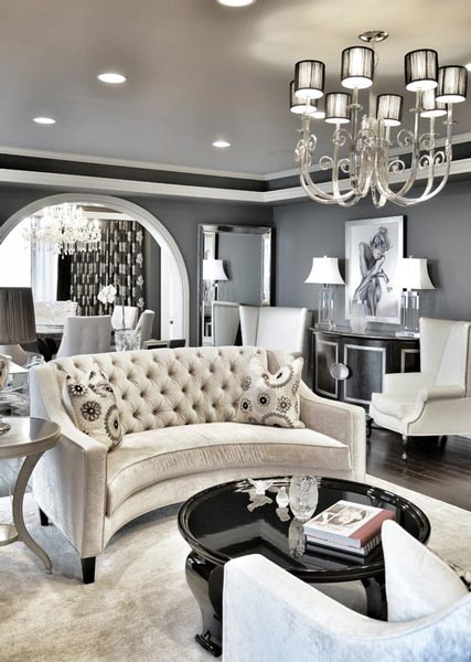 Monochrome is a great choice for a formal living room color scheme.  TTZAZOO