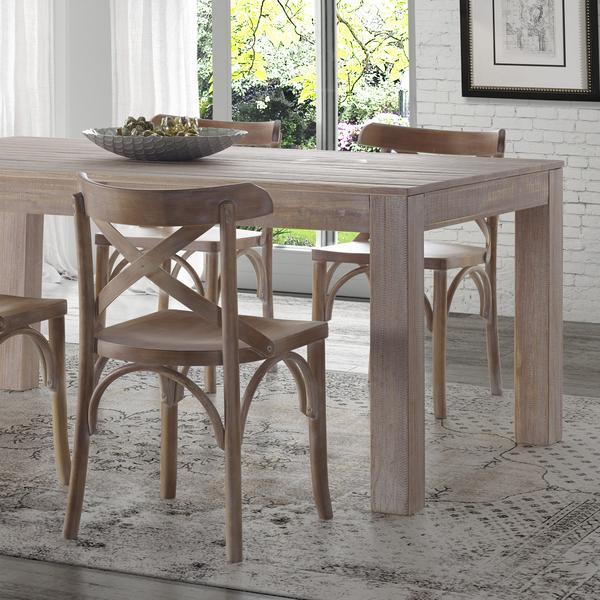 montauk solid wood dining table - driftwood - burl wood furniture - PSOMQUK