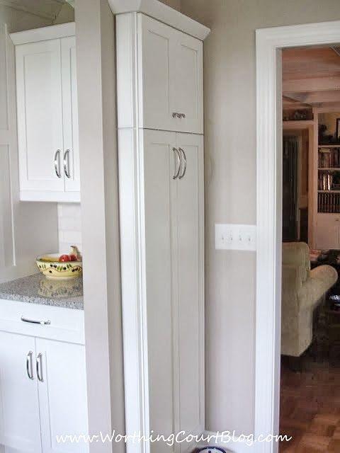 Linda's converted kitchen |  Worthing Court |  Narrow closet.