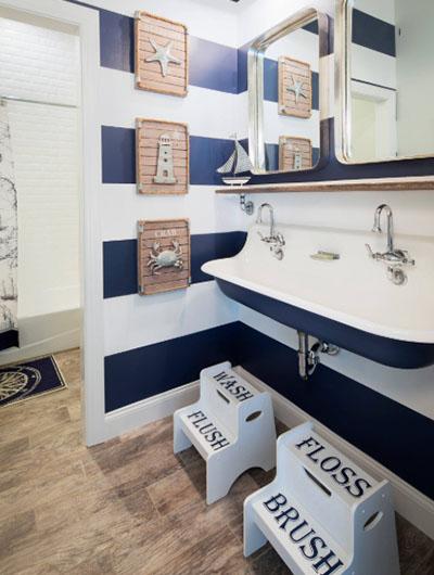 31 Nautical Coastal Beach Bathroom Decor Ideas |  Sebring Design Bu