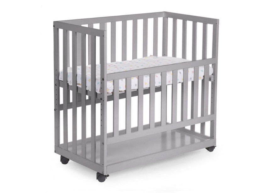 new extra bed beech stone gray 50x90 + castors 3869 TDFEMVH