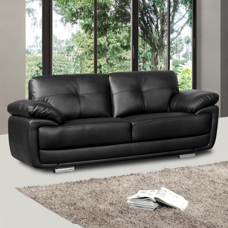 Newark black leather sofa collection with pocket spring seat Ajavhat BCXDXIZ