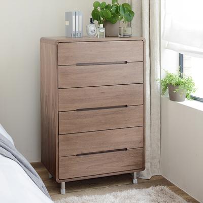 Notch high chest of drawers walnut QKGNLXR
