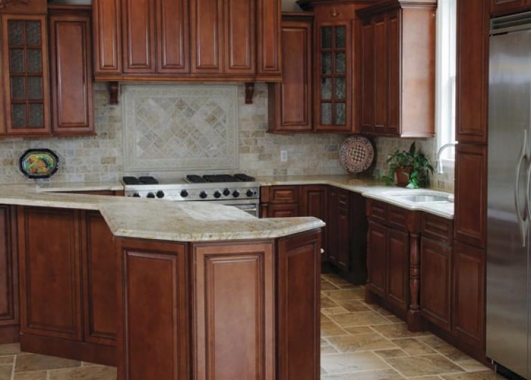 Nutmeg Twist Pre-Assembled Kitchen Cabinets MUUQDFW