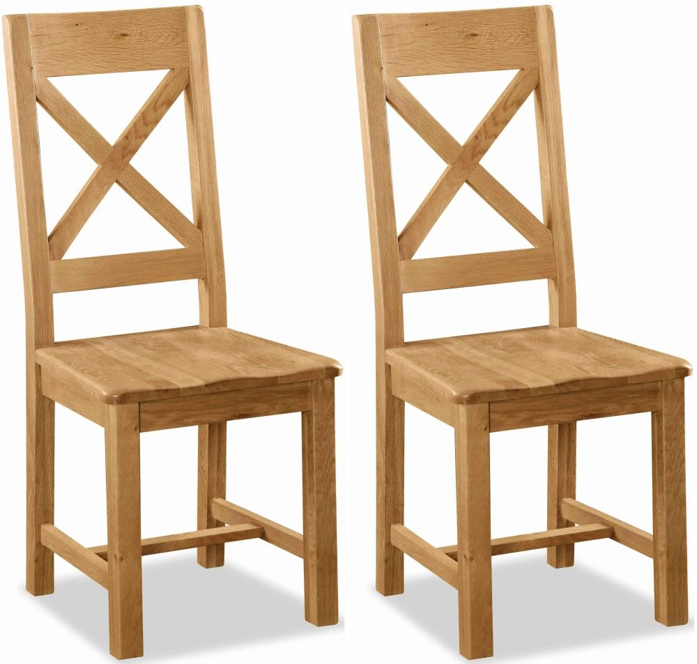 Dining room chairs made of oak global home salisbury oak dining chair with cross back and wooden seat (pair) OSMJLIC