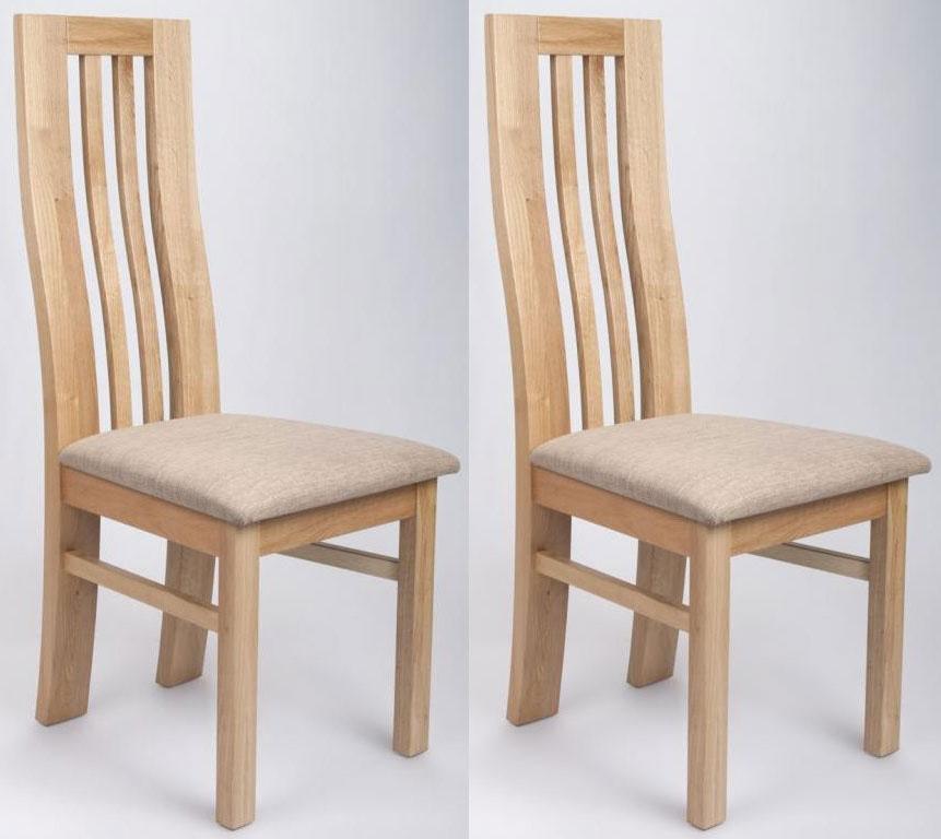 Oak dining chairs Shankar Phoenix Oak dining chairs (pair) VYVMUQG