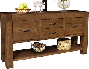 Oak furniture ... sandringham-massive-dark-oak-furniture-large-console-hall- IEXSHVV