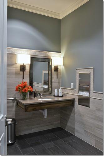 An inviting dental practice    Office bathroom design, doctor's office.