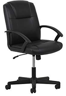 ofm essentials office / computer chair made of leather with armrests - ergonomic rotating table XUPMXDA