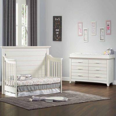 olzo baby crestwood 2-piece baby furniture set - oyster white BFEIFBB