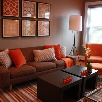 immobilidaprivato.it    Living room orange, living room decor on a ...
