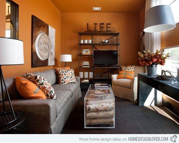 Orange Living Room Ideas